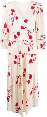BA&SH Paule tiered midi dress