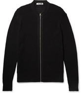 McQ Cotton and Linen-Blend Zip-Up Cardigan