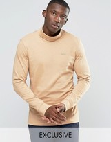 Puma Roll Neck Long Sleeve Top In Tan Exclusive To ASOS