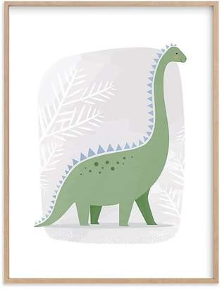 Pottery Barn Kids Happy Dino Wall Art by Minted®, 11x14, Black