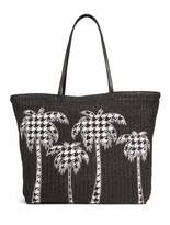Vera Bradley Straw Midnight Houndstooth