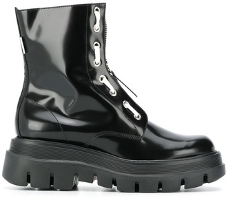 MSGM High-Shine Ankle-Length Boots
