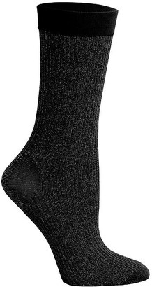 DKNY Lurex Rib Crew Socks 2-Pack