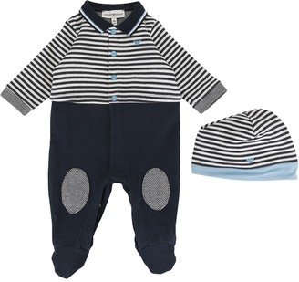 Emporio Armani Kids Striped Babygrow Set