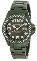 Haurex Italy Women's XK374DVV Ink Stones Green Aluminum Crystal Date Watch