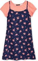 Sequin Hearts T-Shirt & Slip Dress, Big Girls (7-16)
