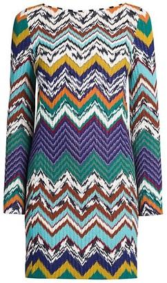 Missoni Abito Multicolor Chevron Stripe Shift Dress