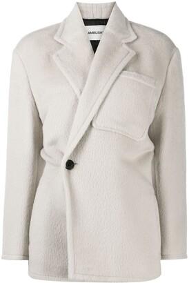 Ambush Off-Centre Fastening Textured Jacket