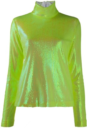 MM6 MAISON MARGIELA Turtle Neck Sequin Jumper