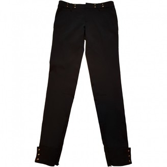 Gucci Black Silk Trousers
