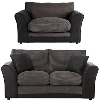 Argos Home Harley 2 Seater Sofa and Cuddle Chair - Charcoal