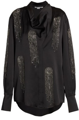 Stella McCartney Amabella Embellished Satin Shirt