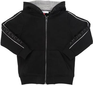 Givenchy Logo Band Hooded Cotton Sweatshirt