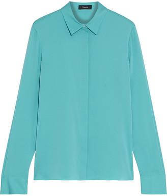 Theory Stretch-silk Shirt