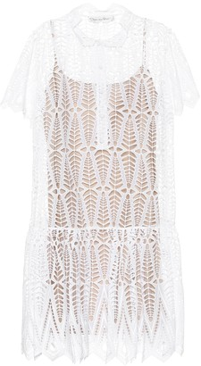 Oscar de la Renta Eyelet-cotton dress