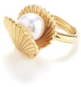 Oscar de la Renta Clam Ring