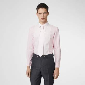 Burberry Cotton Linen Shirt and Tie Twinset