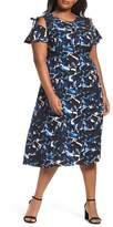 Sejour Cold Shoulder A-Line Dress