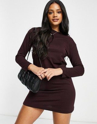Brave Soul lana lounge t-shirt dress in fig