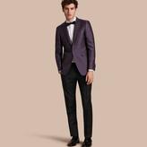 Burberry Slim Fit Geometric Silk Jacquard Tailored Jacket