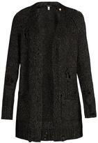 R 13 Distressed-knit cardigan