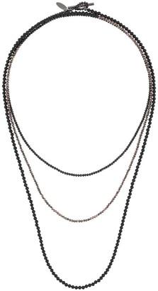 Brunello Cucinelli Triple Beaded Chain Necklace