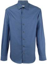 Armani Collezioni houndstooth pattern shirt - men - Cotton - S