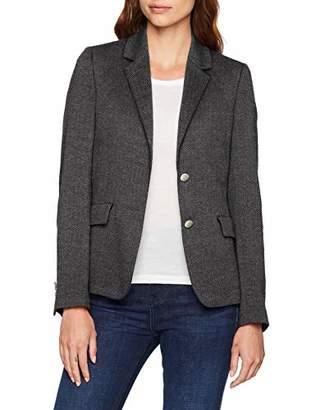 Gant Women's O1.Herringbone Jersey Blazer Suit Jacket, (Dark Grey Melange), (Size: 38)