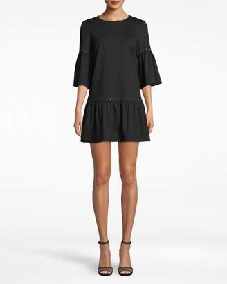 Nicole Miller Ponte Nailhead T-shirt Dress