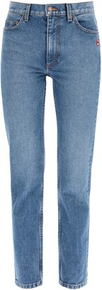 MARC JACOBS, THE MARC JACOBS (THE) JEANS WITH DECORATIVE PIN 24 Blue Cotton