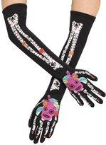 Fun World Costumes Day Of The Dead Skeleton Costume Gloves Teen/Adult Women