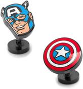 Marvel Black Captain America Comics Pair Cufflinks
