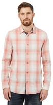 Mantaray Peach Checked Print Shirt