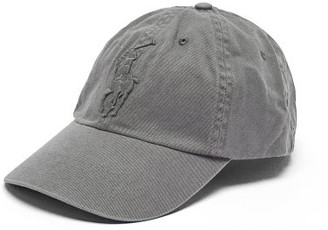 Polo Ralph Lauren Logo-embroidered Cotton Baseball Cap - Mens - Grey