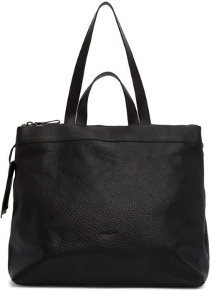 Marsèll Black Leather Large Tote