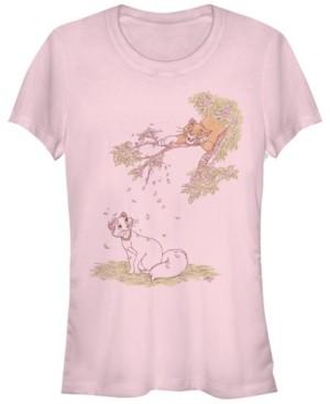 Fifth Sun Women's The Aristocats Raining Petals Short Sleeve T-shirt