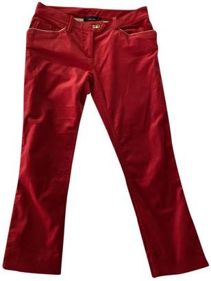 Isabel Marant Red Velvet Trousers