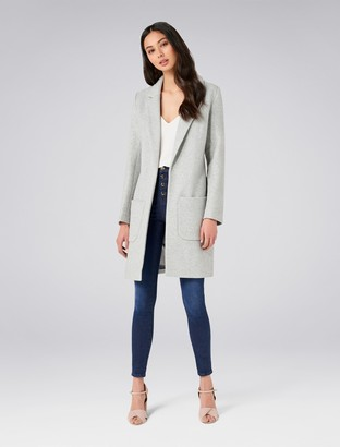 Forever New Jade Coat - Grey Marle - 16