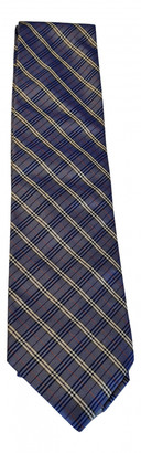 Burberry Blue Silk Ties