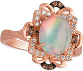 LeVian Le Vian Opal (1-1/5 ct. t.w.) and Diamond (1/6 ct. t.w.) Ring in 14k Rose Gold, Only at Macy's