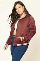Forever 21 FOREVER 21+ Plus Size Varsity Jacket