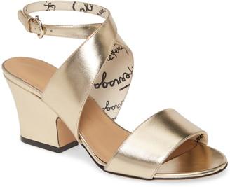 Salvatore Ferragamo Sheena Metallic Cross Strap Sandal