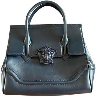 Versace Palazzo Empire Navy Leather Handbags