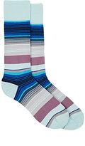 Paul Smith Men's Jess-Striped Mid-Calf Socks-BLUE