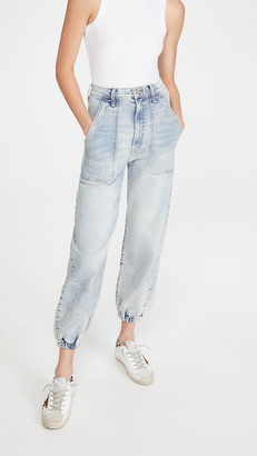 Mother The Wrapper Patch Springy Ankle Jeans