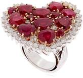 Strawberry Fields Diamond & Ruby Ring