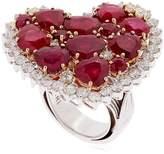 Vennari Strawberry Fields Diamond & Ruby Ring