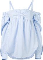 No.21 off-shoulder cuffed blouse - women - Cotton - 40
