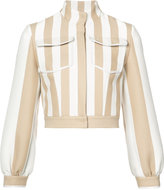 Fendi striped jacket - women - Cotton/Polyimide - 40