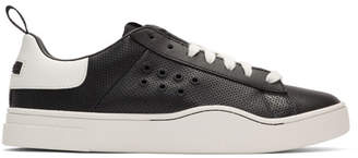 Diesel Black and White S-Clever LC Low Sneakers